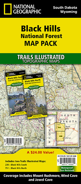 Buy map Black Hills National Forest, Map Pack Bundle by National Geographic Maps