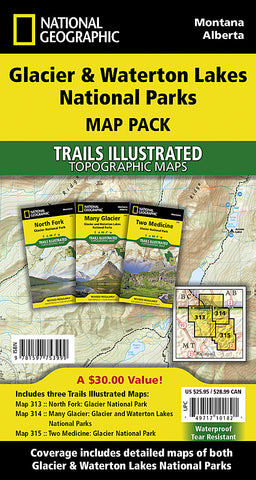 Buy map Glacier and Waterton Lakes National Parks, Map Pack Bundle by National Geographic Maps