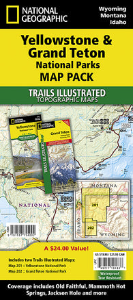 Buy map Yellowstone and Grand Teton National Parks, Map Pack Bundle by National Geographic Maps