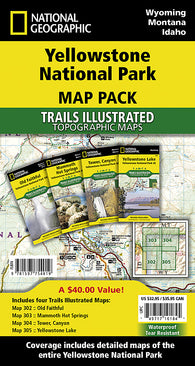 Buy map Yellowstone National Park, Sectional Map Pack Bundle by National Geographic Maps