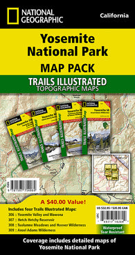 Buy map Yosemite National Park, Map Pack Bundle by National Geographic Maps