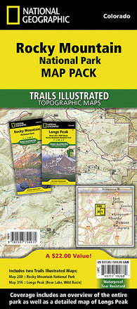 Buy map Rocky Mountain National Park, Map Pack Bundle by National Geographic Maps