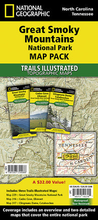 Buy map Great Smoky Mountains National Park, Map Pack Bundle by National Geographic Maps