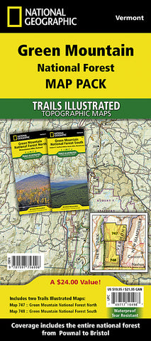 Buy map Green Mountains National Forest, Map Pack Bundle by National Geographic Maps