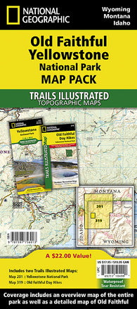Buy map Old Faithful Day Hikes Map Pack Bundle by National Geographic Maps