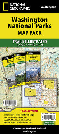 Buy map Washington National Parks Map Pack Bundle by National Geographic Maps