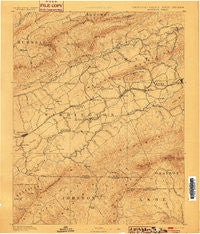 Abingdon Virginia Historical topographic map, 1:125000 scale, 30 X 30 Minute, Year 1894