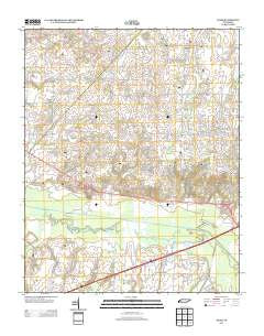 Adair Tennessee Historical topographic map, 1:24000 scale, 7.5 X 7.5 Minute, Year 2013