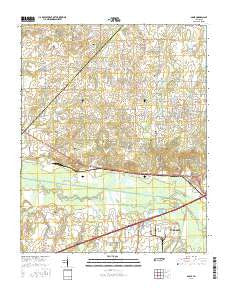 Adair Tennessee Current topographic map, 1:24000 scale, 7.5 X 7.5 Minute, Year 2016