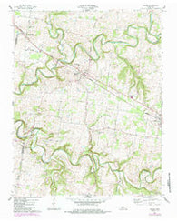 Adams Tennessee Historical topographic map, 1:24000 scale, 7.5 X 7.5 Minute, Year 1957