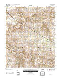 Adams Tennessee Historical topographic map, 1:24000 scale, 7.5 X 7.5 Minute, Year 2013