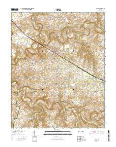 Adams Tennessee Current topographic map, 1:24000 scale, 7.5 X 7.5 Minute, Year 2016