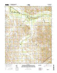 Alamo Tennessee Current topographic map, 1:24000 scale, 7.5 X 7.5 Minute, Year 2016