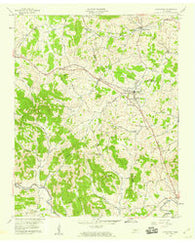 Alexandria Tennessee Historical topographic map, 1:24000 scale, 7.5 X 7.5 Minute, Year 1958