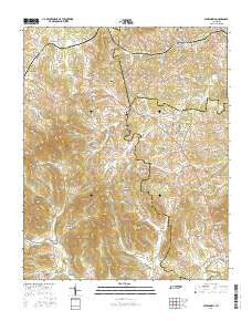 Alexandria Tennessee Current topographic map, 1:24000 scale, 7.5 X 7.5 Minute, Year 2016