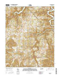 Alpine Tennessee Current topographic map, 1:24000 scale, 7.5 X 7.5 Minute, Year 2016