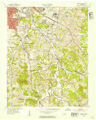 Antioch Tennessee Historical topographic map, 1:24000 scale, 7.5 X 7.5 Minute, Year 1952