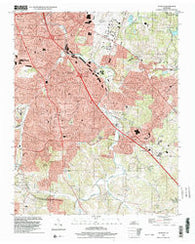 Antioch Tennessee Historical topographic map, 1:24000 scale, 7.5 X 7.5 Minute, Year 1999
