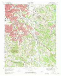 Antioch Tennessee Historical topographic map, 1:24000 scale, 7.5 X 7.5 Minute, Year 1968