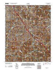 Antioch Tennessee Historical topographic map, 1:24000 scale, 7.5 X 7.5 Minute, Year 2010