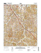 Antioch Tennessee Current topographic map, 1:24000 scale, 7.5 X 7.5 Minute, Year 2016 from Tennessee Map Store