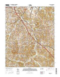 Antioch Tennessee Current topographic map, 1:24000 scale, 7.5 X 7.5 Minute, Year 2016