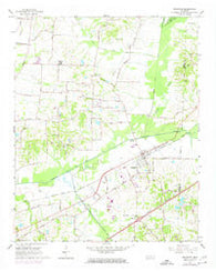 Arlington Tennessee Historical topographic map, 1:24000 scale, 7.5 X 7.5 Minute, Year 1965