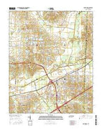 Arlington Tennessee Current topographic map, 1:24000 scale, 7.5 X 7.5 Minute, Year 2016 from Tennessee Map Store