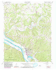 Ashland City Tennessee Historical topographic map, 1:24000 scale, 7.5 X 7.5 Minute, Year 1957