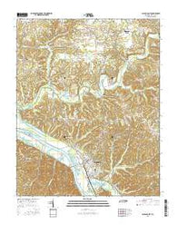 Ashland City Tennessee Current topographic map, 1:24000 scale, 7.5 X 7.5 Minute, Year 2016