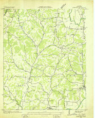 Aspen Hill Tennessee Historical topographic map, 1:24000 scale, 7.5 X 7.5 Minute, Year 1936