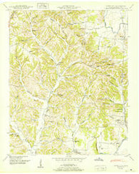 Aspen Hill Tennessee Historical topographic map, 1:24000 scale, 7.5 X 7.5 Minute, Year 1950
