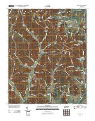 Aspen Hill Tennessee Historical topographic map, 1:24000 scale, 7.5 X 7.5 Minute, Year 2010