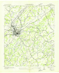 Athens Tennessee Historical topographic map, 1:24000 scale, 7.5 X 7.5 Minute, Year 1935