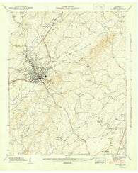 Athens Tennessee Historical topographic map, 1:24000 scale, 7.5 X 7.5 Minute, Year 1944