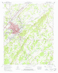 Athens Tennessee Historical topographic map, 1:24000 scale, 7.5 X 7.5 Minute, Year 1964