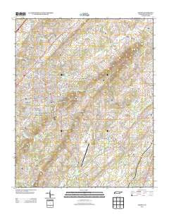 Athens Tennessee Historical topographic map, 1:24000 scale, 7.5 X 7.5 Minute, Year 2013