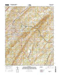 Athens Tennessee Current topographic map, 1:24000 scale, 7.5 X 7.5 Minute, Year 2016