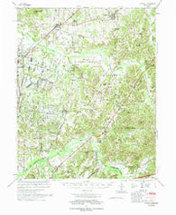 Atwood Tennessee Historical topographic map, 1:62500 scale, 15 X 15 Minute, Year 1977