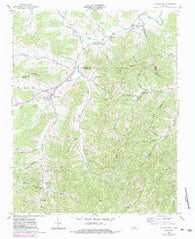 Auburntown Tennessee Historical topographic map, 1:24000 scale, 7.5 X 7.5 Minute, Year 1962
