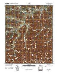 Auburntown Tennessee Historical topographic map, 1:24000 scale, 7.5 X 7.5 Minute, Year 2010