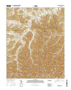 Auburntown Tennessee Current topographic map, 1:24000 scale, 7.5 X 7.5 Minute, Year 2016