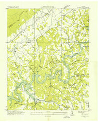 Ausmus Tennessee Historical topographic map, 1:24000 scale, 7.5 X 7.5 Minute, Year 1936