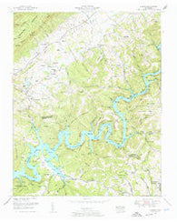 Ausmus Tennessee Historical topographic map, 1:24000 scale, 7.5 X 7.5 Minute, Year 1952
