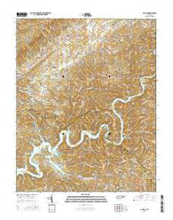 Ausmus Tennessee Current topographic map, 1:24000 scale, 7.5 X 7.5 Minute, Year 2016