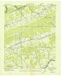 Avondale Tennessee Historical topographic map, 1:24000 scale, 7.5 X 7.5 Minute, Year 1935