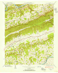 Avondale Tennessee Historical topographic map, 1:24000 scale, 7.5 X 7.5 Minute, Year 1938