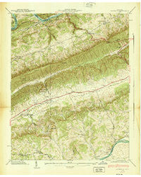 Avondale Tennessee Historical topographic map, 1:24000 scale, 7.5 X 7.5 Minute, Year 1939