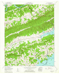 Avondale Tennessee Historical topographic map, 1:24000 scale, 7.5 X 7.5 Minute, Year 1960