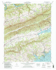 Avondale Tennessee Historical topographic map, 1:24000 scale, 7.5 X 7.5 Minute, Year 1979